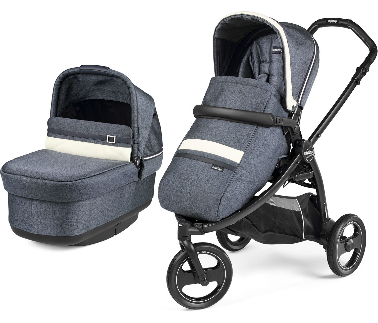 Коляска 2 в 1 Peg Perego Book Scout Pop Up Luxe Mirage